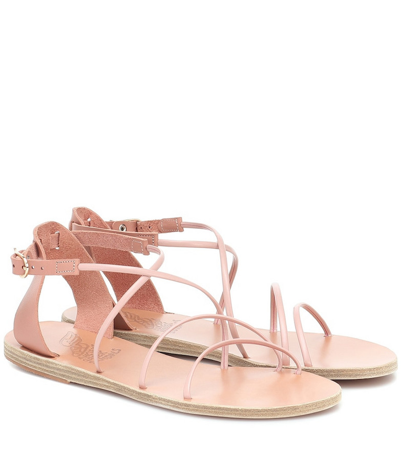 Ancient Greek Sandals Meloivia leather sandals in pink