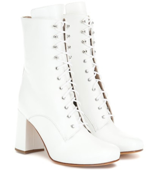 Maryam Nassir Zadeh Emmanuelle leather ankle boots in white