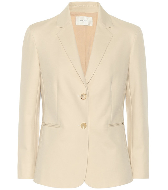 The Row Lobton cotton blazer in beige