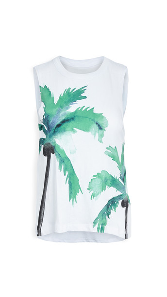 Chaser Palm Tank in white