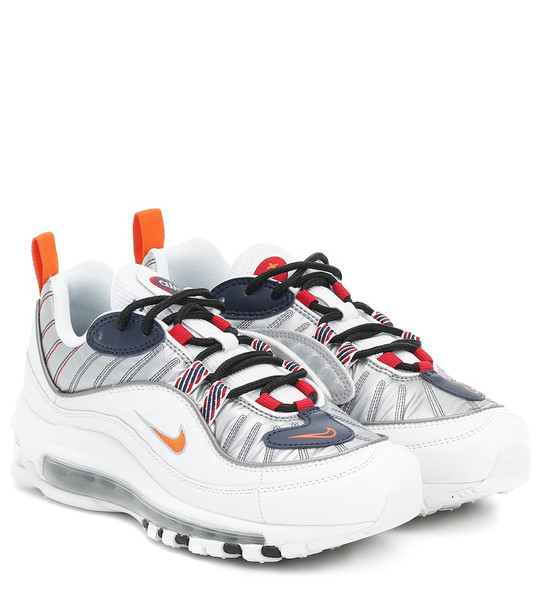 Nike Air Max 98 leather and mesh sneakers in white