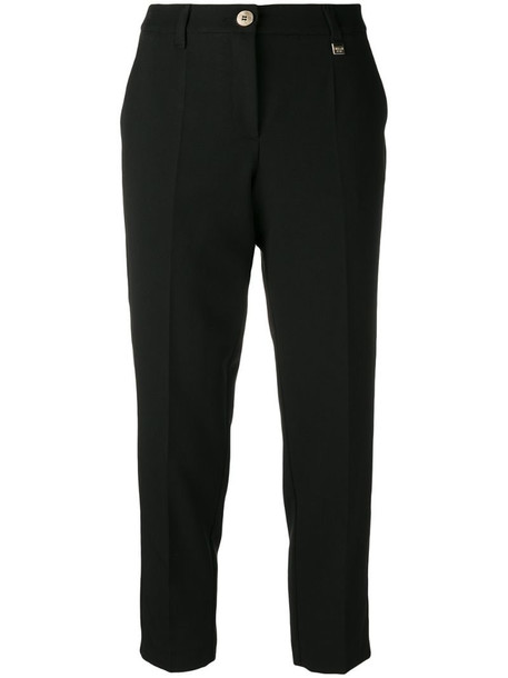 Versace Jeans Couture cropped tailored trousers in black
