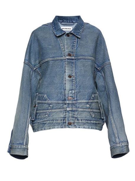 Balenciaga - Deconstructed Oversized Denim Jacket - Womens - Light Denim