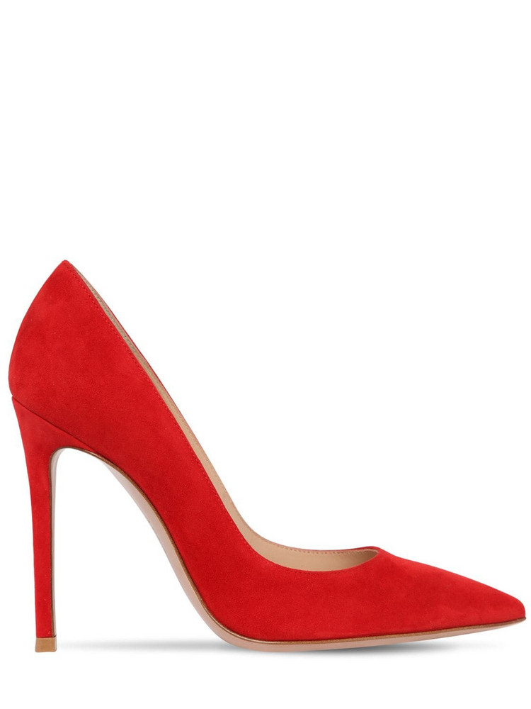 GIANVITO ROSSI 105mm Gianvito Suede Pumps in red