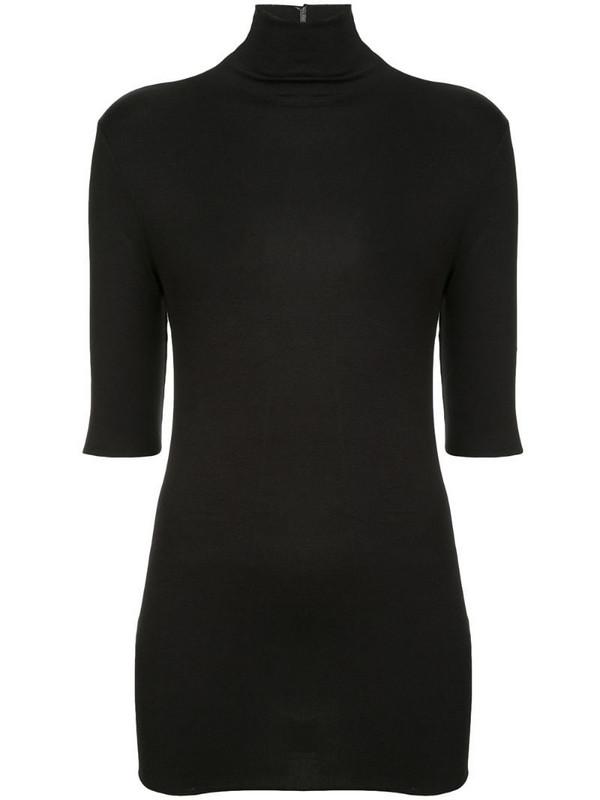Thom Krom turtleneck top in black