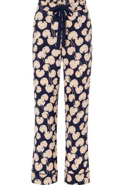Diane von Furstenberg - Veronica Printed Crepe Wide-leg Pants - Black