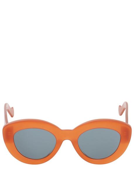 LOEWE Butterfly Acetate Sunglasses in brick