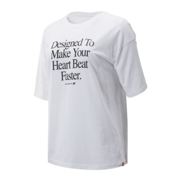 New Balance 93549 Women's NB Athletics Archive Heart Tee - White (WT93549WT)