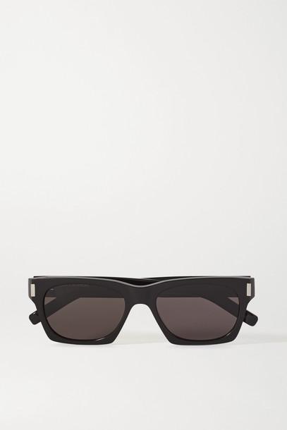 SAINT LAURENT - Square-frame Acetate Sunglasses - Black