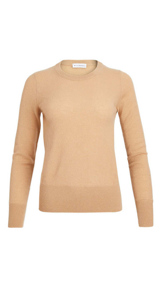 White + Warren White + Warren Cashmere Long Sleeve Crew Neck Sweater