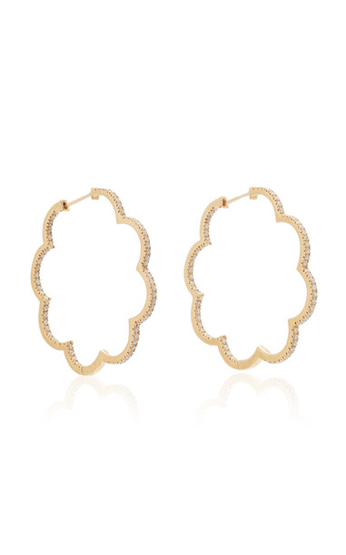 Ashley McCormick Amelie 18K Gold And Diamond Hoop Earrings