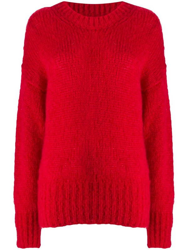 Isabel Marant chunky-knit jumper in red