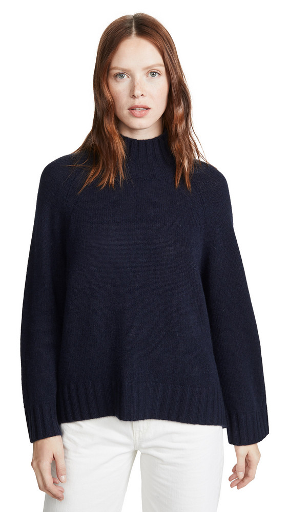 360 SWEATER Margaret Cashmere Sweater in navy