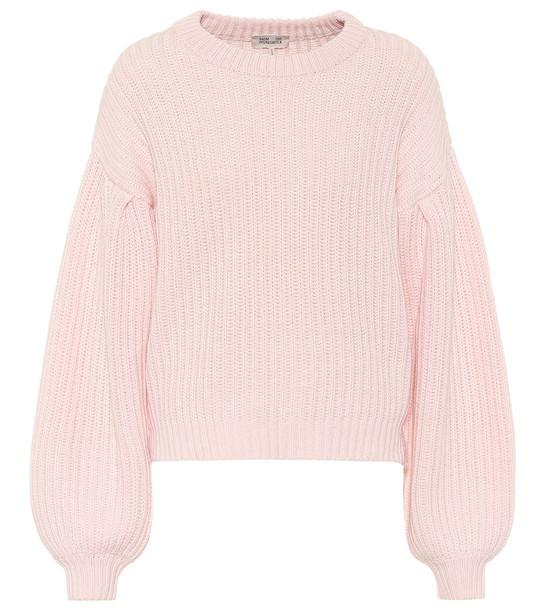 Baum und Pferdgarten Cerra ribbed-knit cotton-blend sweater in pink