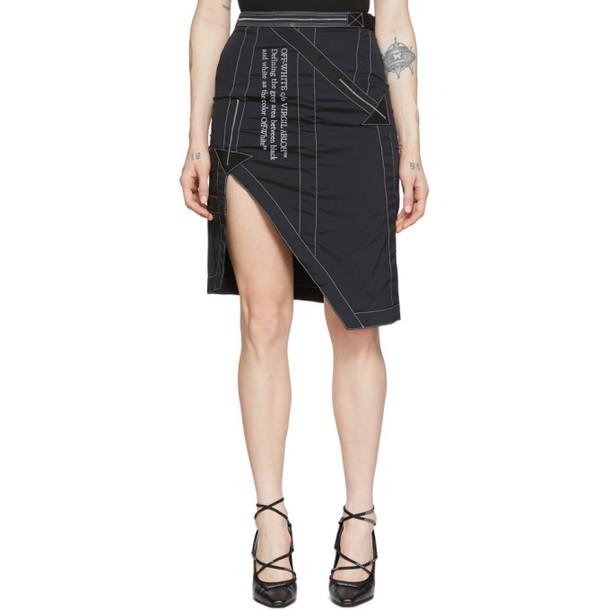 Off-White Black Parachute Miniskirt