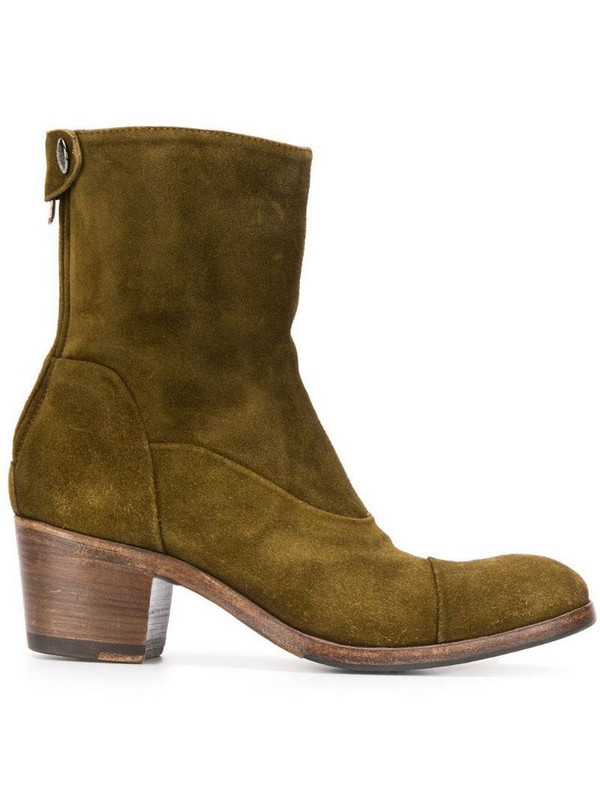 Alberto Fasciani suede ankle boots in green