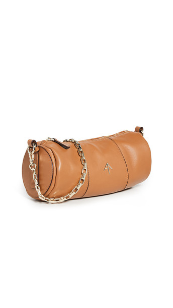 MANU Atelier Cylinder Chain Bag in sand