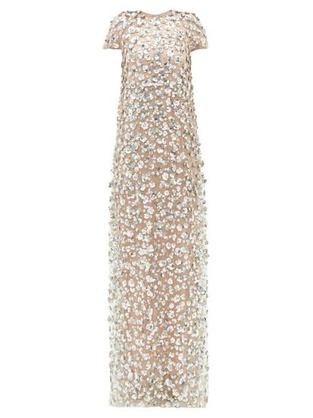 Carolina Herrera - Sequin Embellished Tulle Gown - Womens - Pink Multi