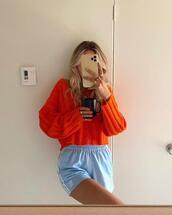shorts,sweater