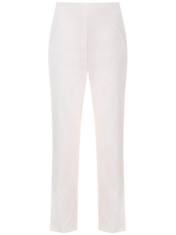 Andrea Marques side pockets straight trousers in white