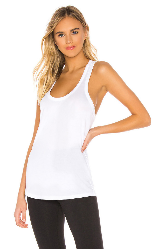 Beyond Yoga All About It Racerback Tank in white