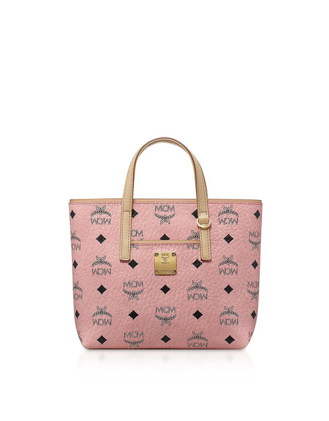 Mcm Anya Mini Shopping Bag in pink