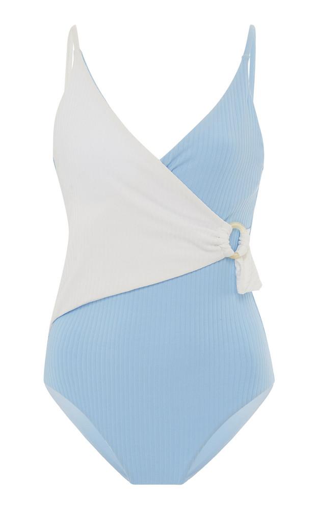 Onia Lila Classic Wrap One-Piece Swimsuit in multi