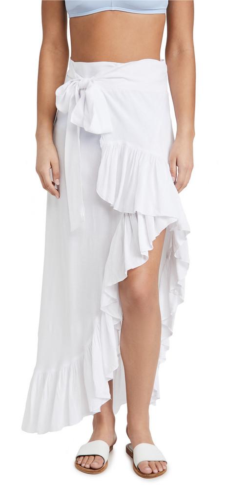 TIARE HAWAII Tulip Wrap Skirt in white