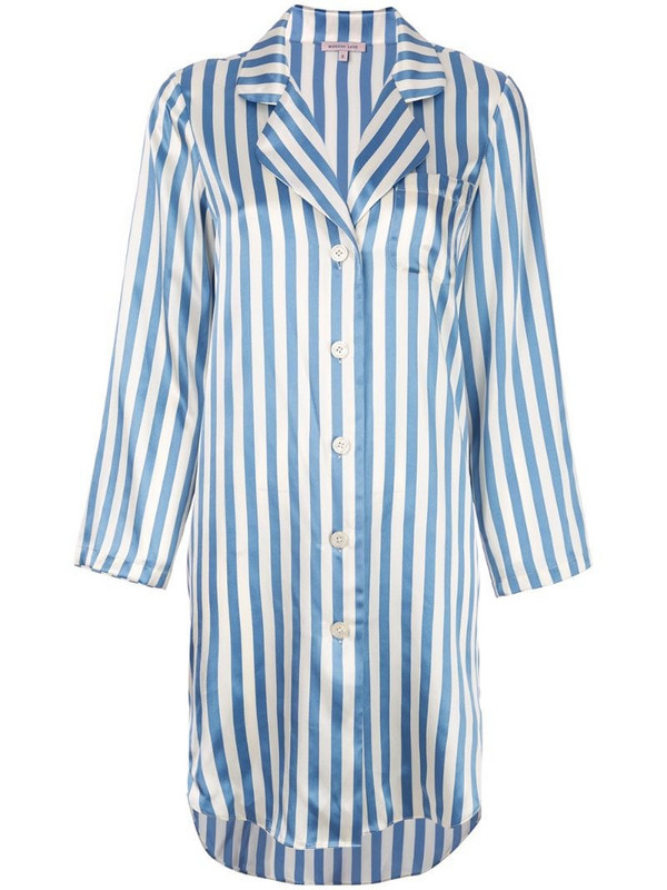 Morgan Lane Jillian silk night shirt in neutrals