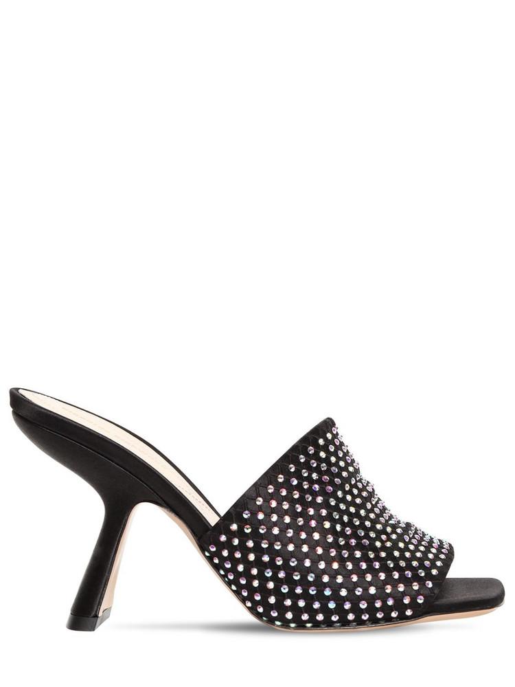 NICHOLAS KIRKWOOD 90mm Alba Embellished Suede Sandals in black