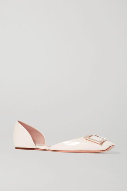 Roger Vivier - Trompette D'orsay Leather Ballet Flats - White