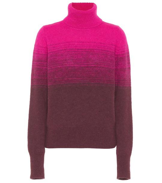 Dries Van Noten Gradient turtleneck sweater in pink