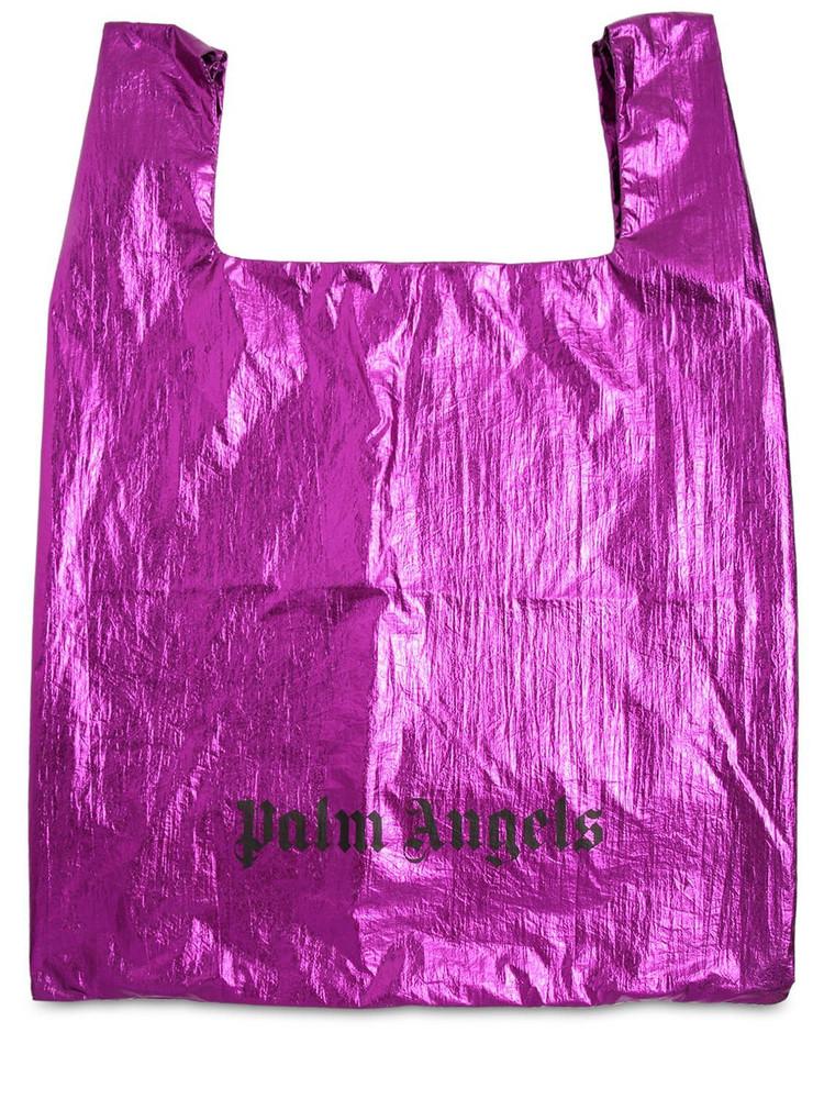 PALM ANGELS Metallic Nylon Tote Bag in fuchsia