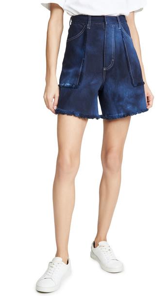 Ksenia Schnaider Denim Tie Dye Shorts