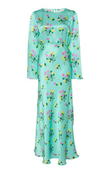 Bernadette Antwerp Jane Floral Silk Maxi Dress Size: 34 in print