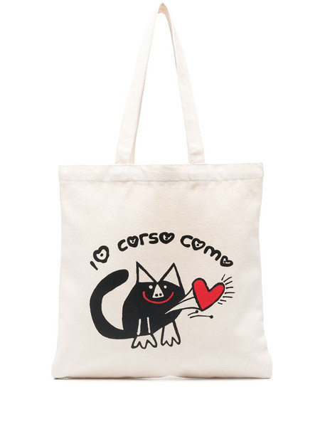 10 CORSO COMO logo-print padded tote bag in neutrals