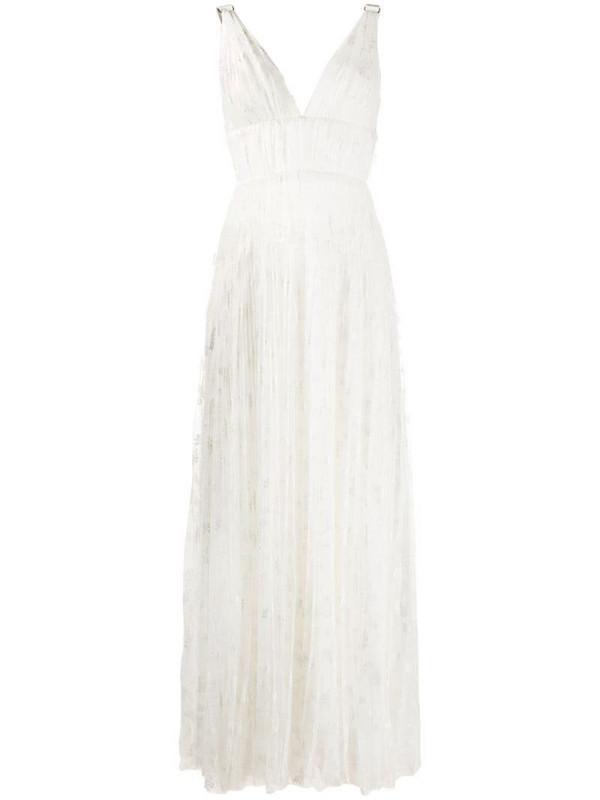 Maria Lucia Hohan Aletta flared maxi dress in white