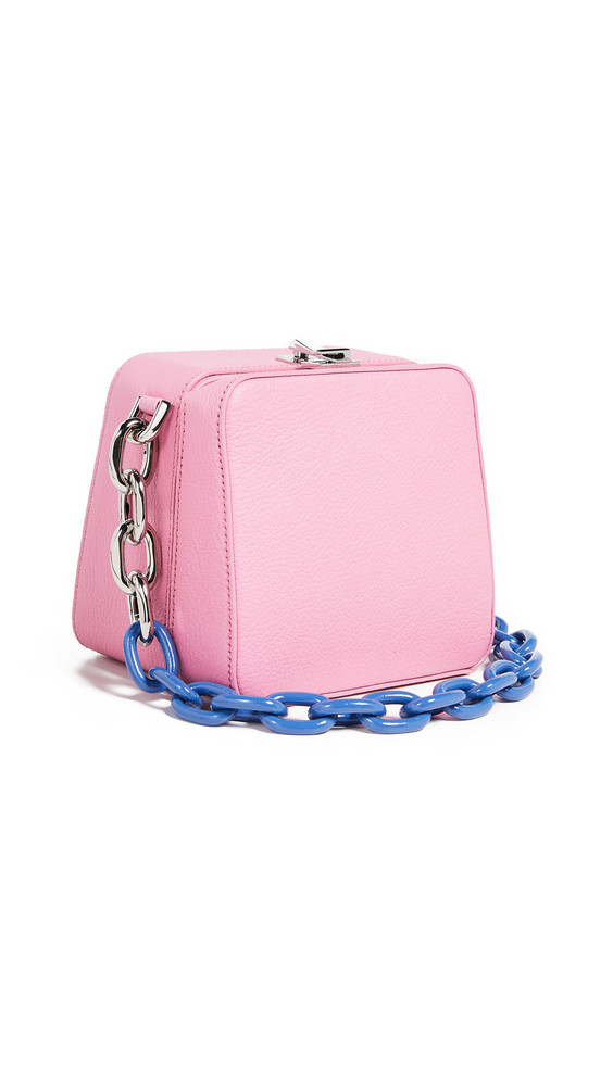 THE VOLON Cube Chain Bag in pink