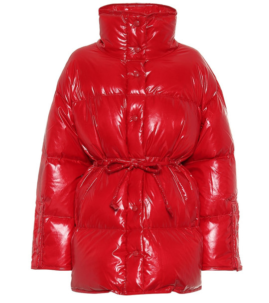 Acne Studios Drawstring puffer jacket in red