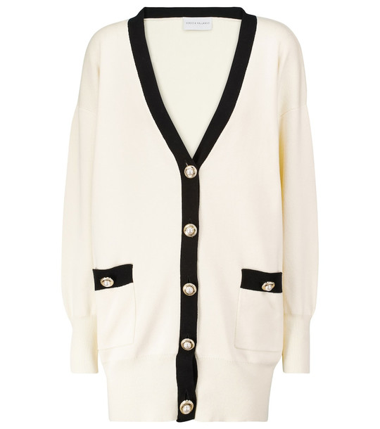 Rebecca Vallance Tancy cotton and nylon-blend cardigan in white