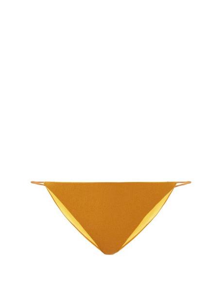Jade Swim - Bare Minimum Terry Bikini Briefs - Womens - Dark Yellow
