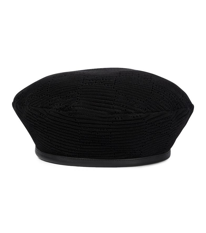 Gucci Cotton beret in black