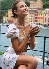 top,skirt,two piece dress set,two-piece,josephine skriver,model off-duty,summer outfits