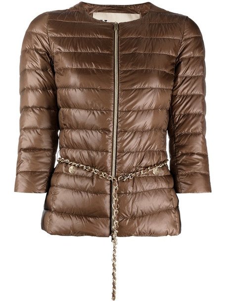 Herno padded down jacket in brown