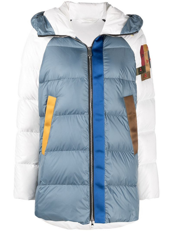 Peuterey colour-block puffer jacket in blue
