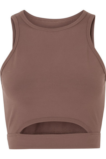 Year of Ours - Cutout Stretch Sports Bra - Taupe