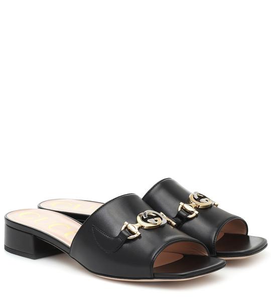 Gucci Zumi leather sandals in black