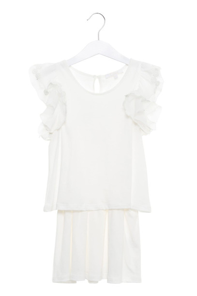 Chloé Chloé Ruffles Dress in bianco