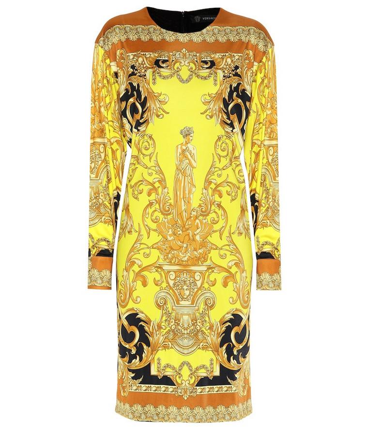 Versace Printed minidress in yellow