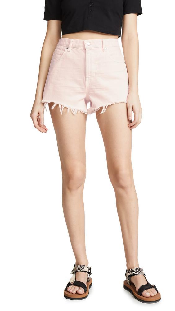 Denim x Alexander Wang Bite Shorts in pink